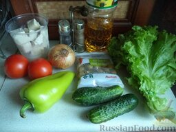 """Овощной салат """"Взрыв вкуса"""" с тофу: Продукты для овощного салата с тофу перед вами."""