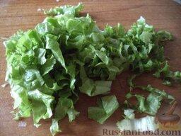 """Овощной салат """"Взрыв вкуса"""" с тофу: Салат вымыть, нарезать."""