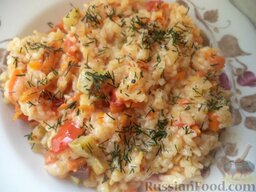 Рисовая каша с овощами (в мультиварке): Рисовая каша с овощами в мультиварке готова.  Приятного аппетита!