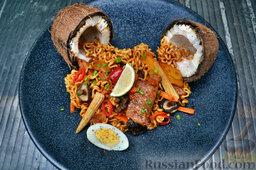 Тайская лапша со свининой