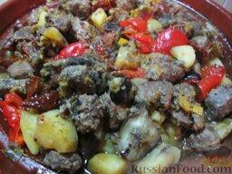 Таджин из телятины и овощей
