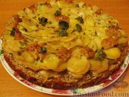 """Овощной торт """"Фермерский"""": Торт «Фермерский» - это необыкновенный вкус овощей, оттененный душистым ароматом чеснока и специй!"""