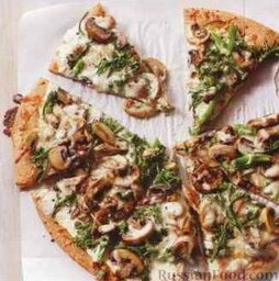 Пицца с брокколи и грибами