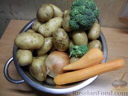 Кролик с овощами: Набор овощей.