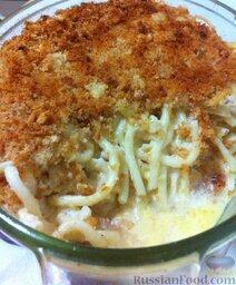 Спагетти, запеченные с тунцом