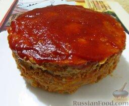 """Классическая """"Мясная буханка"""" (мясная запеканка): Готовую запеканку извлеките из формы и подавайте горячей."""