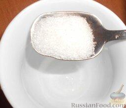 Овощные роллы со сливочным сыром: Затем добавить сахар.   Необходимо слегка подогреть, чтобы сахар и соль хорошо растворились.