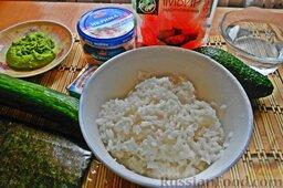 Овощные роллы со сливочным сыром: Теперь переходим непосредственно к приготовлению роллов.