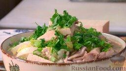 Аппетитный куриный суп с лапшой