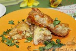Блинчики с курицей карри в сливочном соусе