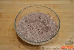 Шоколадные блинчики: Как приготовить шоколадные блинчики:    Смешать в мисочке муку, какао-порошок и разрыхлитель.