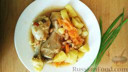 Тушеная картошка с курицей и фасолью (в мультиварке): Тушеная картошка с курицей и фасолью (в мультиварке) готова. Приятного аппетита!