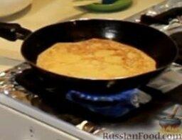 """Блинчики """"Креп Сюзетт"""" (домашний вариант): Тем временем на большом огне сильно разогреваем сковороду, при необходимости смазываем ее маслом.  Выпекаем из всего теста тонкие блины."""