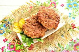 Шницель из мясного фарша: Шницели из фарша готовы! Подайте такие шницели с картофельным пюре или другим гарниром.  Приятного аппетита!