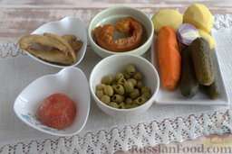 Солянка рыбная с кальмарами (в мультиварке): Подготовим продукты.