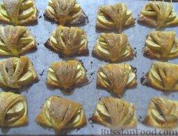 Творожное печенье с яблоками: Готовое творожное печенье с яблоками должно приобрести красивый золотистый цвет.