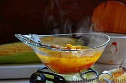 Суп со скумбрией и кукурузой