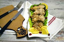 Фаршированная скумбрия, запеченная в фольге: Приятного аппетита!