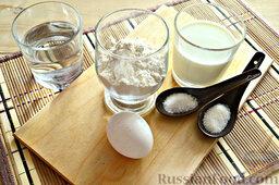Роллы из блинчиков с крабовыми палочками: Как приготовить роллы из блинчиков:    Для приготовления тонких блинчиков для роллов подготовьте нужные ингредиенты.