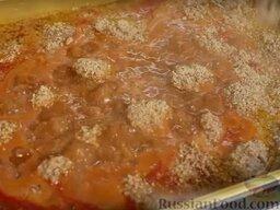 Фисинджан - тефтели в гранатовом соусе: Добавляем орехи в соус.