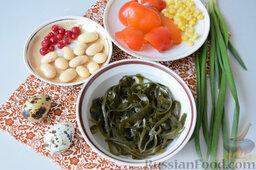 Салат с морской капустой и красной смородиной: Продукты для приготовления салата из морской капусты с красной смородиной.