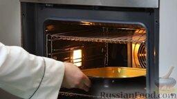 Рыба дорадо, запеченная в соли, с овощным гарниром: Все, переносим дорадо в соли в духовку.