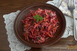 Салат с морской капустой и корнеплодами: Салат из морской капусты готов.