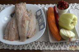 Рыбный гуляш (в мультиварке): Подготавливаем все составляющие для приготовления рыбного гуляша.