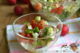 Салат из капусты с редиской