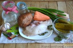 Праздничный салат с курицей и картофелем: Подготовим ингредиенты для салата праздничного с курицей и картофелем.