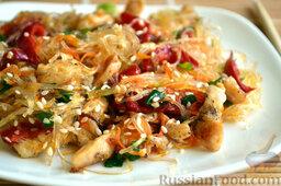 Фунчоза с курицей и овощами: Приятного аппетита!