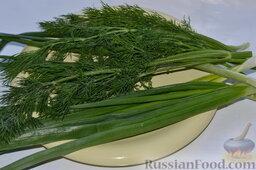 Салат из пекинской капусты, со свежим огурцом и кукурузой: Промываем и обсушиваем зелень.
