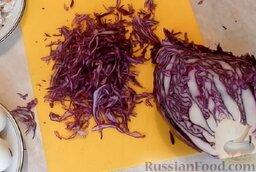 Салат из краснокочанной капусты: Как приготовить салат из краснокочанной капусты:    Мелко нашинковать капусту.