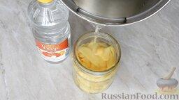 Маринованный имбирь: Поместить имбирь в банку (0,5 л) и залить сладкой водой, чтобы имбирь был полностью покрыт водой.