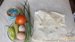 Рулет из лаваша, с сардиной и овощами: Подготовим ингредиенты для рулета из лаваша с сардиной.