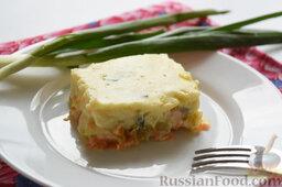 Картофельная запеканка с овощами (в мультиварке): Минут через 15 можно аккуратно начинать раскладывать картофельную запеканку с овощами по тарелкам и снимать пробу.