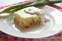 Картофельная запеканка с овощами (в мультиварке): Можно подавать запеканку со сметаной.   Приятного аппетита!