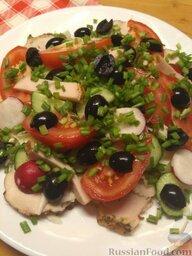 Салат из овощей и курицы: Салат из овощей и курицы готов.  Приятного аппетита!