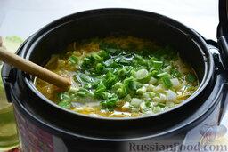 Щи в мультиварке: Добавим его и перец в суп за 5-7 минут до финиша.