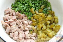 """Салат """"Гнездо глухаря"""" с индейкой и спаржей: Как приготовить салат"""
