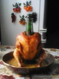 Курица с золотистой корочкой (на бутылке)