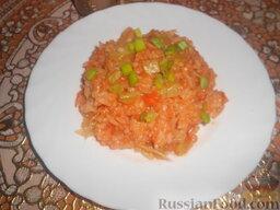 рис с капустой и кабачками