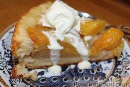 Пирог с нектаринами и яблоками (в мультиварке)
