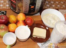 Пирог с нектаринами и яблоками (в мультиварке): Собрать продукты для пирога с нектаринами и яблоками (в мультиварке).