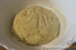 Пирог с нектаринами и яблоками (в мультиварке): Замесить тесто и убрать в холодильник на 30 минут.