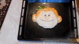 """Пирог """"Смайлик"""" из дрожжевого теста, с капустой и рисом: Из гвоздики сделать"""