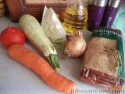 """Каша """"Монастырская"""": Подготовить продукты для приготовления каши по-монастырски.    Вскипятить чайник."""