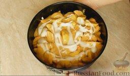 Шарлотка с яблоками и корицей: Поставить пирог в разогретую до 180 градусов духовку и выпекать шарлотку с яблоками и корицей  35-40 минут.