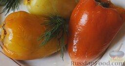 Болгарский перец, фаршированный мясом и рисом: Болгарский перец, фаршированный мясом и рисом, готов.