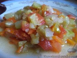 Соте из овощей (в мультиварке): Подавать овощное соте можно как теплым, так и холодным.  Приятного аппетита!